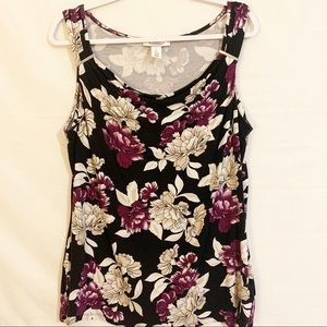 White House Black Market Drape Sleeveless Blouse